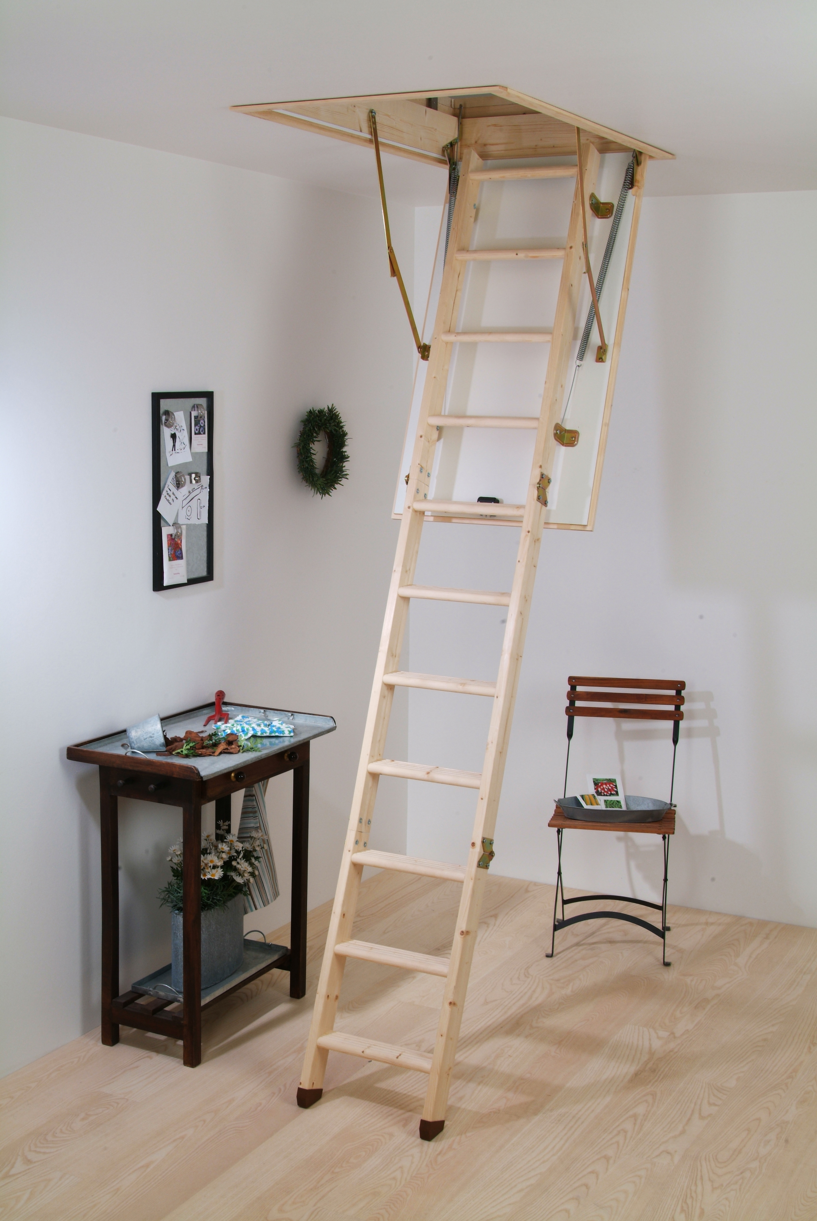 the hobby attic stairs